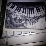 Traveler's Notebook 軽量紙リフィルに万年筆でも結構描き込めるぞ。