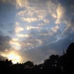 不思議な夕日