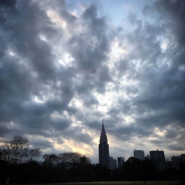 ️️ #sky #clouds #sunset #shinjuku #shinjukugyoen  #tokyo #新宿御苑 #空 #雲 #ソラ #イマソラ #ゆうやけ