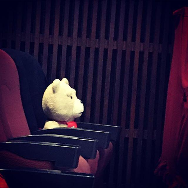今日もがっちりガードのお仕事してましたよ。 #TED #movietheater #ginreihall #iidabashi #ギンレイホール #飯田橋 #映画館