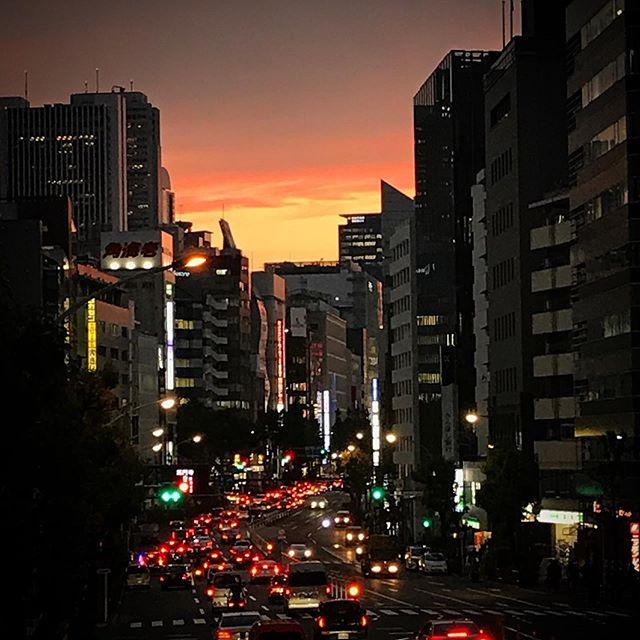 ザ夕陽! #sky #clouds #sunset #shinjuku  #tokyo #空 #雲 #ソラ #イマソラ #ゆうやけ