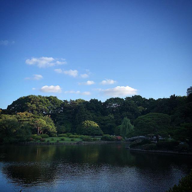 風が気持ちいいよ️️️ #sky #clouds #shinjuku #shinjukugyoen  #tokyo #新宿御苑 #空 #雲 #ソラ #イマソラ