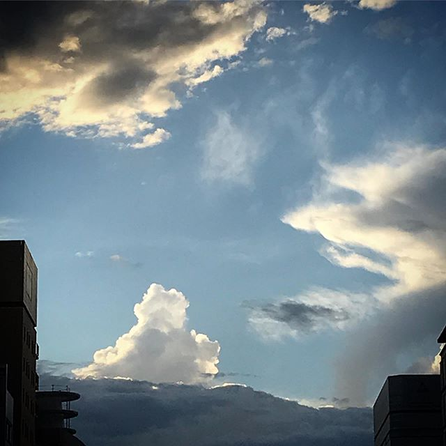️️️ #sky #clouds #空 #雲 #ソラ #いつかの空