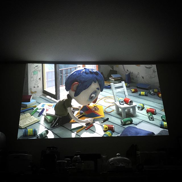 movie time🍿 Ma vie de Courgette#ボクのなまえはズッキーニ #movie #cinema #film #hometheater #StopMotionAnimation