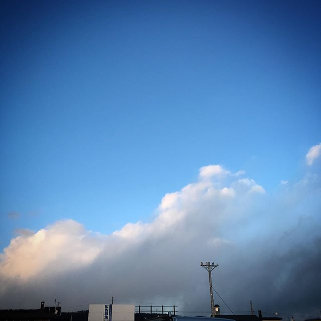 ️🌥️ #sky #clouds #hokkaido #北海道 #空 #雲 #ソラ #けさそら