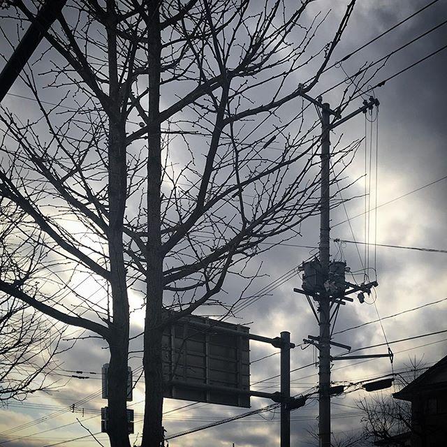 ️️️たてよこななめでんせん️️️ #sky #clouds #hokkaido #北海道 #空 #雲 #ソラ #けさそら #でんせん  #電線